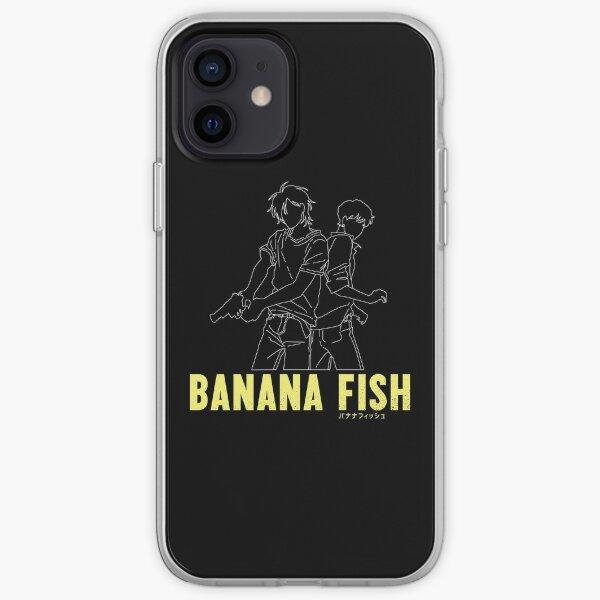 Poisson banane - Silhouette Ash & Eiji Coque souple iPhone