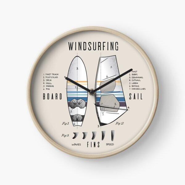 Windsurfing Gear Board Sail Lexicon Legend Clock
