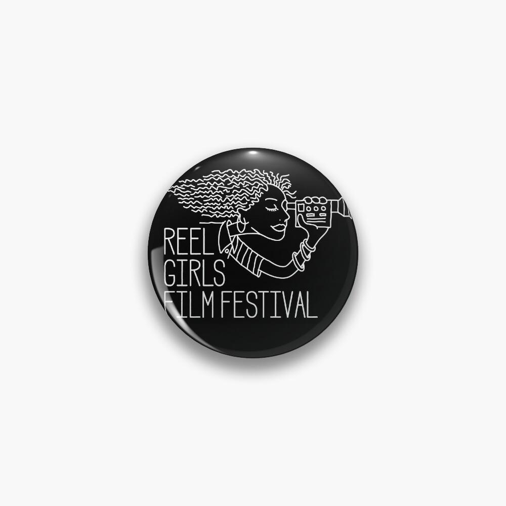 Reel Girls Logo on Black Pin