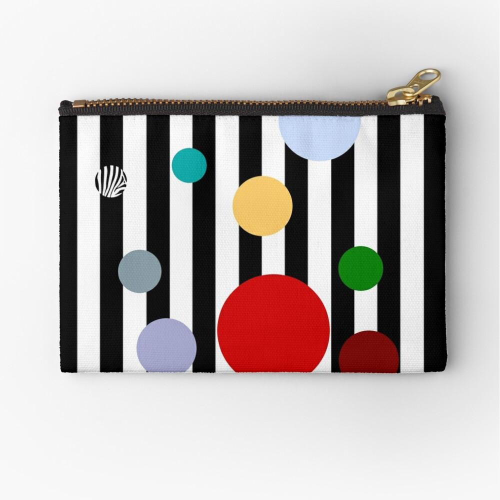 Geometrics- Stripes and Polka Dots Zipper Pouch