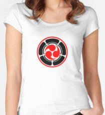 Mitsu Tomoe - Lotus -  Japan - Trinity Symbol Women's Fitted Scoop T-Shirt