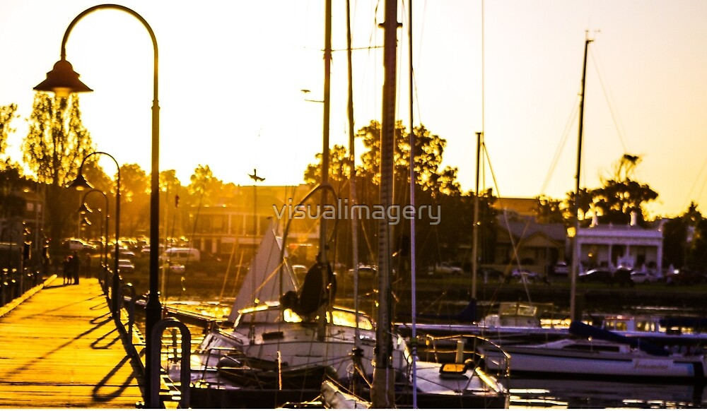 Sunset at Williamstown Pier by visualimagery