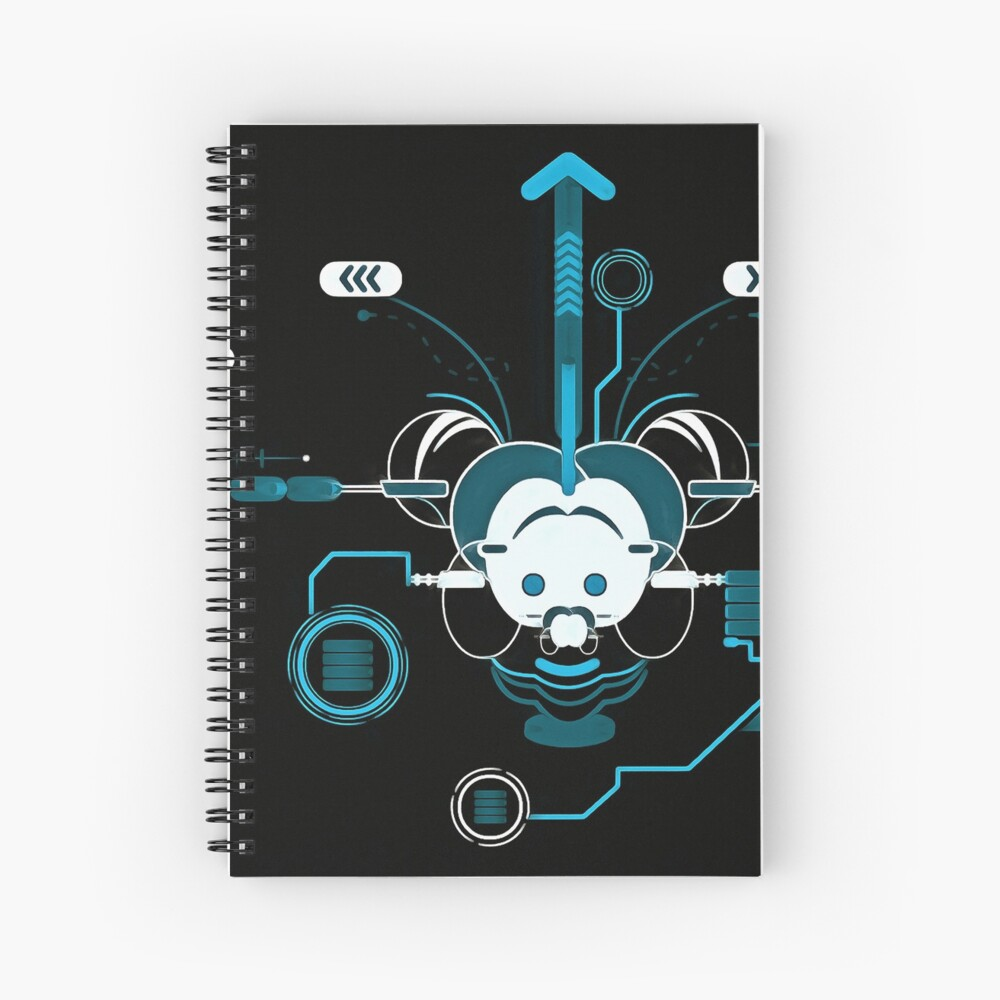 Cyber Mouse invert Spiral Notebook