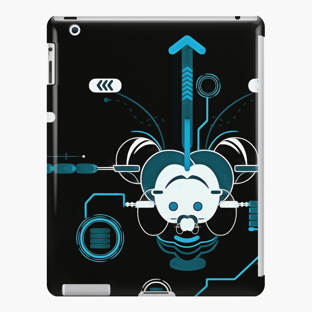 Cyber Mouse invert iPad Case & Skin