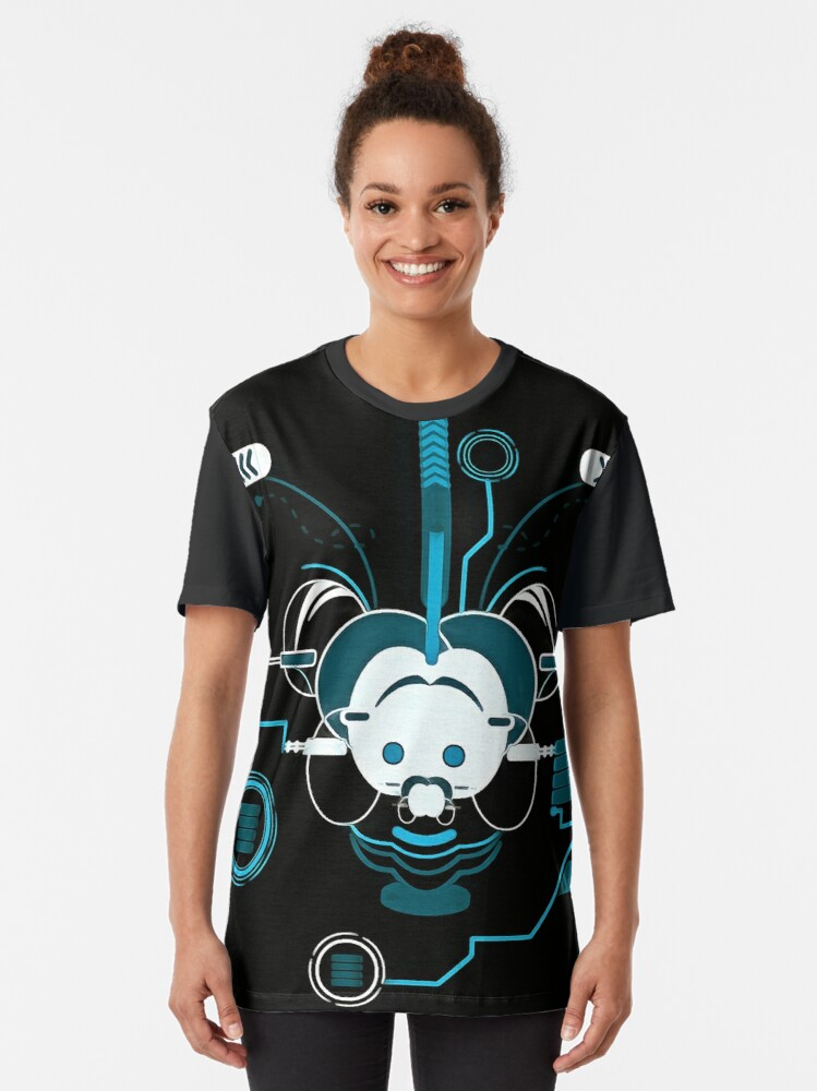 Alternate view of Cyber Mouse invert Graphic T-Shirt