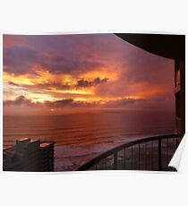 Sunrise at Surfers Paradise Poster