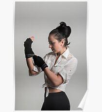 Cute female boxer Poster