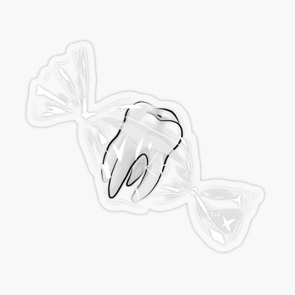 Sweet Tooth Transparent Sticker