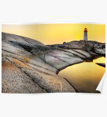 Sunset at Peggy's Cove Poster