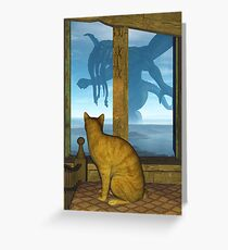 What The Cat Saw Greeting Card