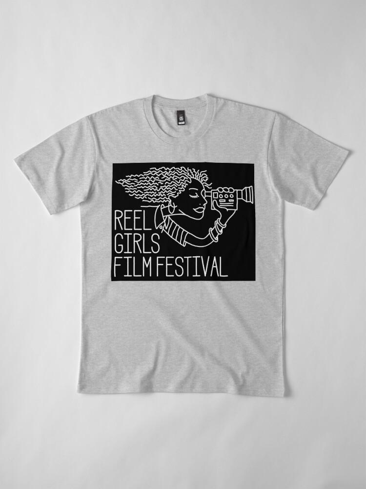 Alternate view of Reel Girls Logo on Black Premium T-Shirt