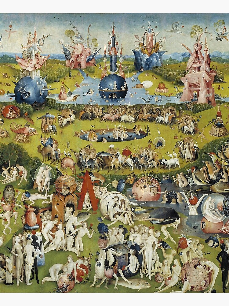 THE GARDEN OF EARTHLY DELIGHT - HEIRONYMUS BOSCH  by iconicpaintings