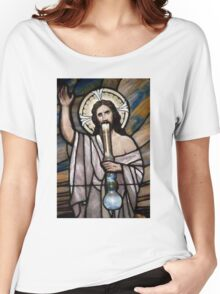 Jesus Hittin a Bong Women's Relaxed Fit T-Shirt