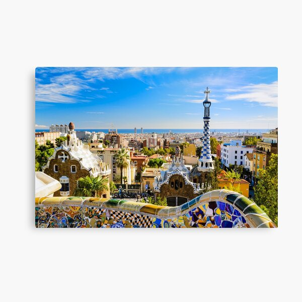 Park Guell Barcelona Spain 3.2 A Wall Art Canvas Picture Print