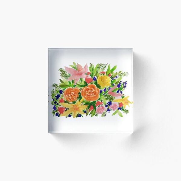 Patti's Flowers Acrylic Block