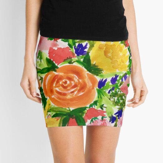 Patti's Flowers Mini Skirt