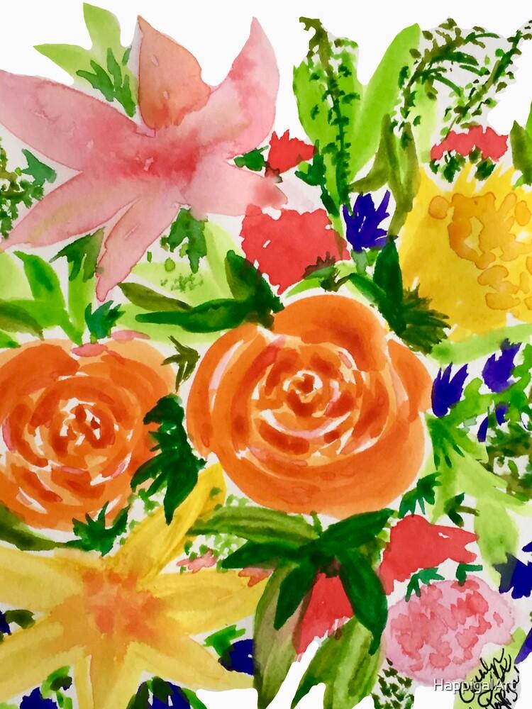 Patti's Flowers by HappigalArt