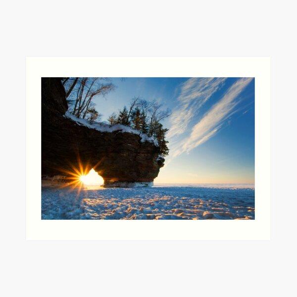 Fading Warmth, Apostle Islands, WI Art Print