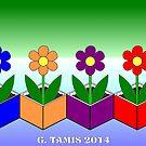 FLOWERS IN CUBES by RainbowArt