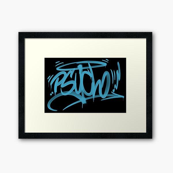 graffiti tag psycho Framed Art Print