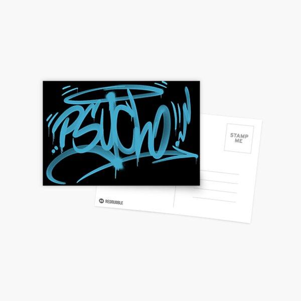 graffiti tag psycho Postcard