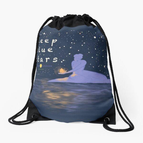 Deep Blue Stars Remastered Logo Drawstring Bag