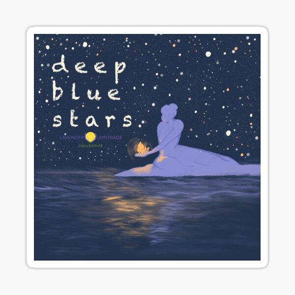 Deep Blue Stars Remastered Logo Sticker