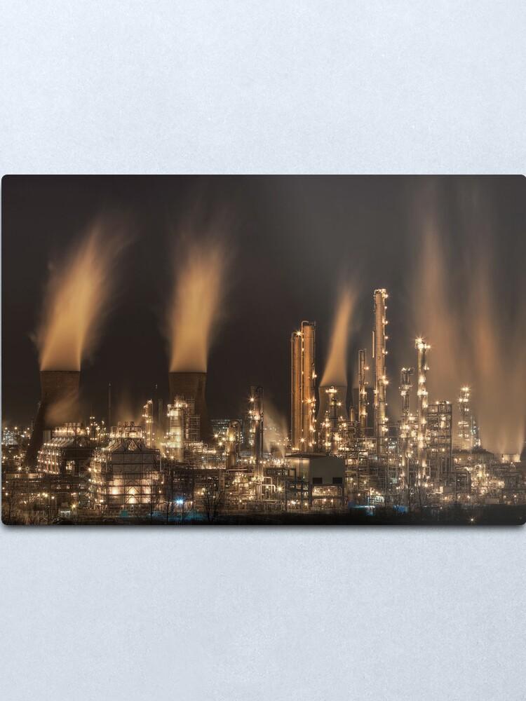 Alternate view of Grangemouth Refinery (4) Metal Print