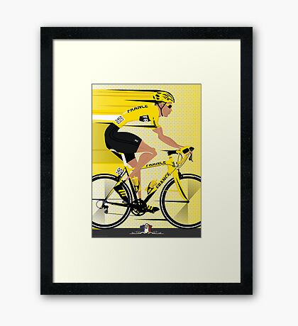 France Yellow Jersey Framed Print