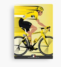 France Yellow Jersey Canvas Print
