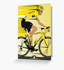 France Yellow Jersey Greeting Card