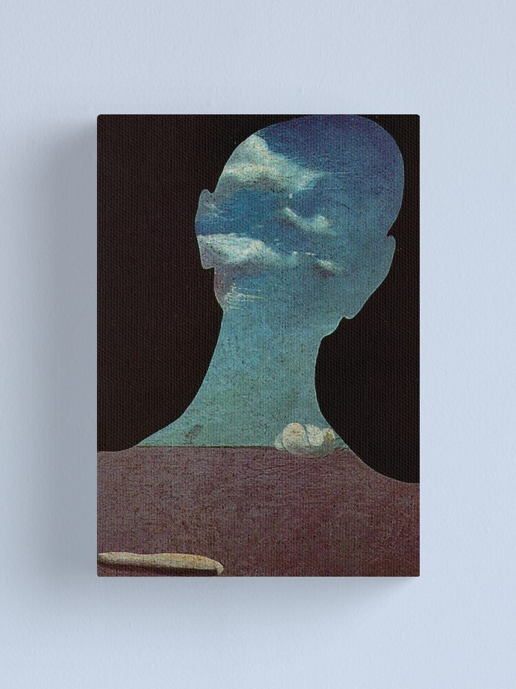 Alternate view of Man with His Head Full of Clouds by Salvador Dali  Canvas Print