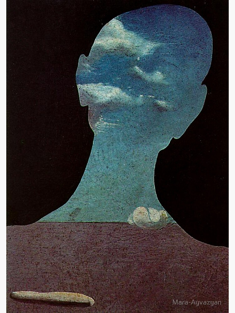 Man with His Head Full of Clouds by Salvador Dali  by Mara-Ayvazyan