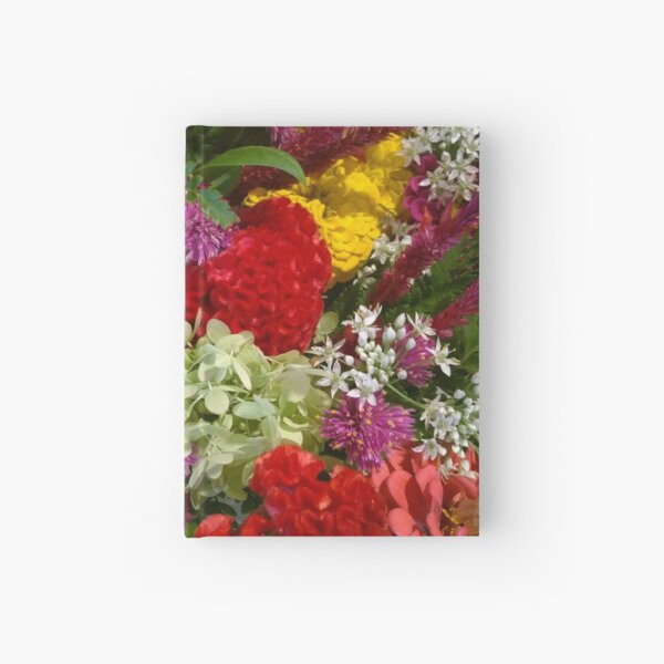 Floral Bouquet-Aster-Cock's Comb-Zinnia Hardcover Journal