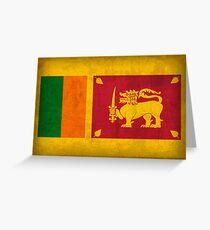 Sri Lanka Flag Greeting Card