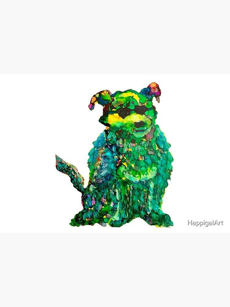 Cool Dog Abstract Original by HappigalArt
