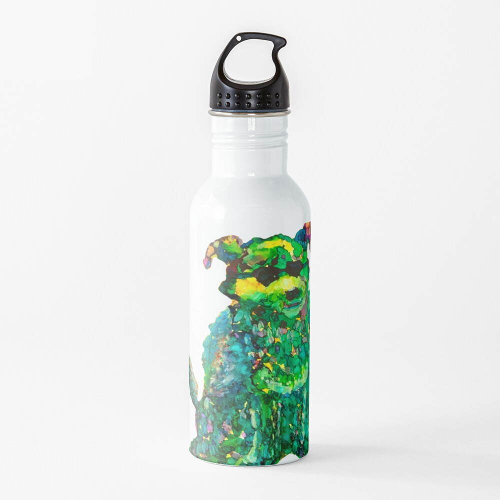 Cool Dog Abstract Original Water Bottle