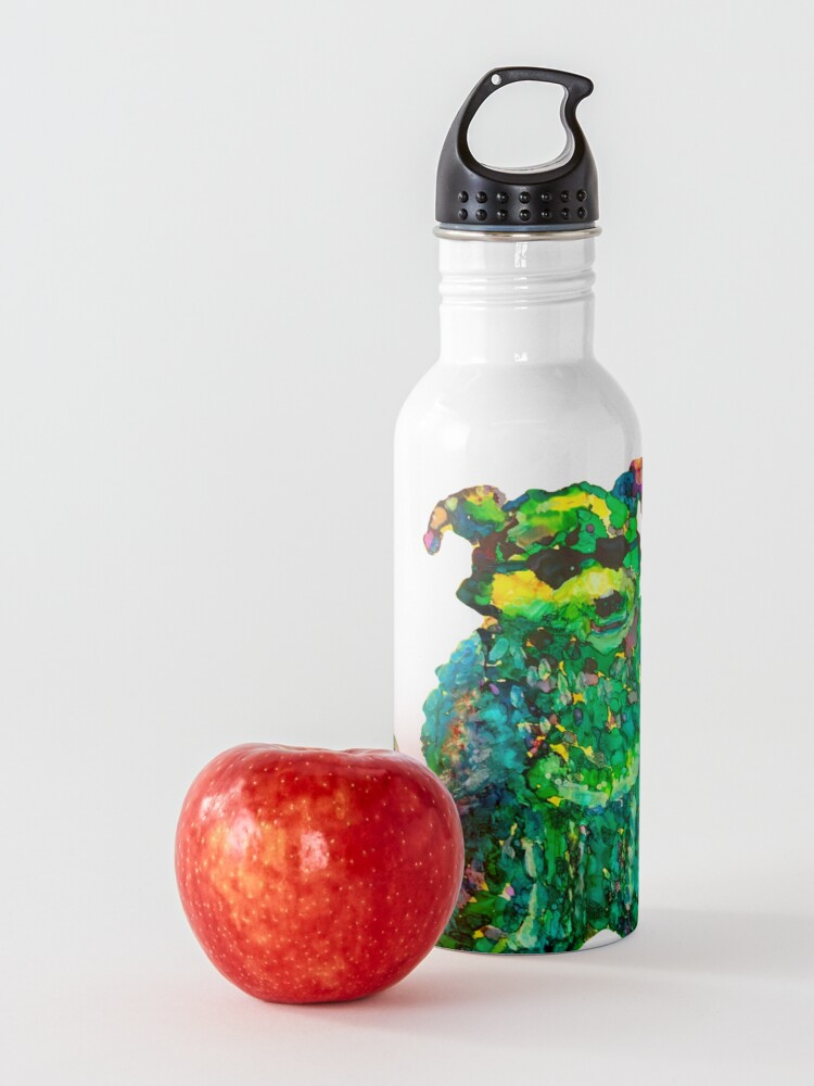 Alternate view of Cool Dog Abstract Original Water Bottle