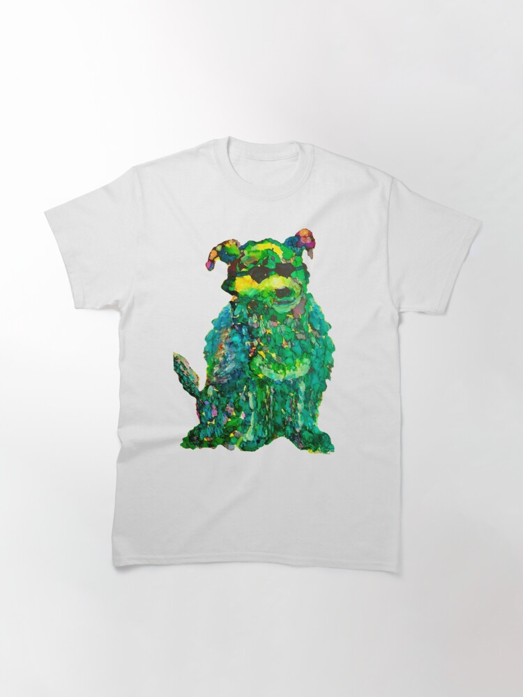 Alternate view of Cool Dog Abstract Original Classic T-Shirt