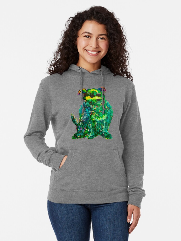 Alternate view of Cool Dog Abstract Original Lightweight Hoodie