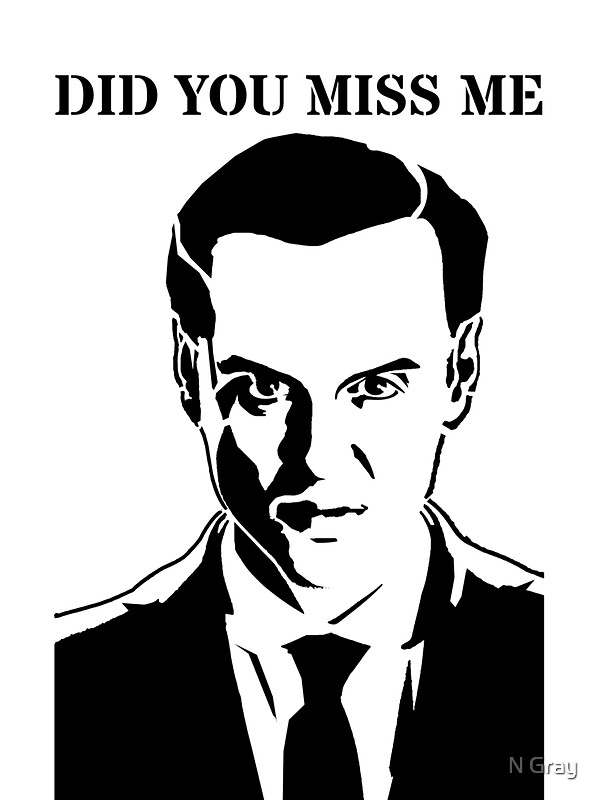 """Moriarty - Did You Miss Me?"" Stickers by N Gray 