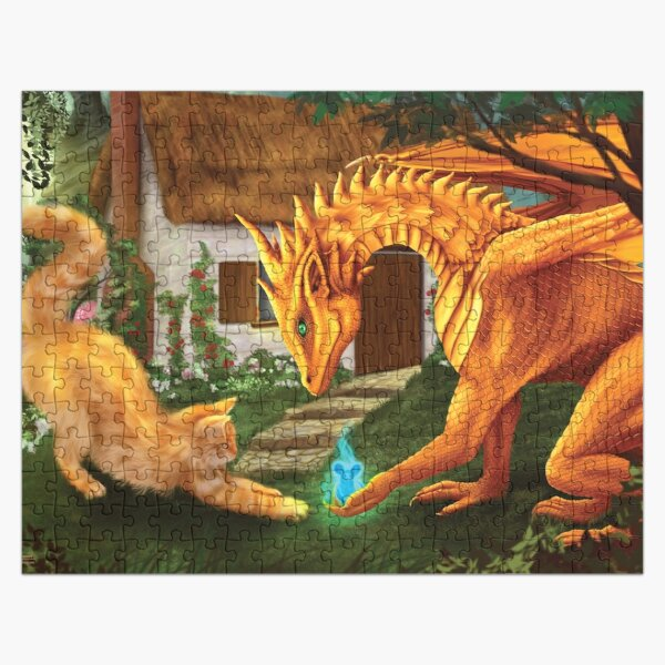 Cat and Dragon Jigsaw Puzzle