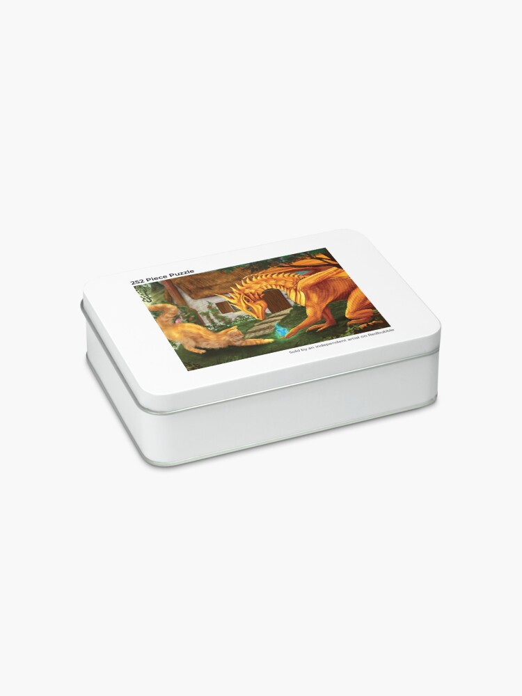 Alternate view of Cat and Dragon Jigsaw Puzzle