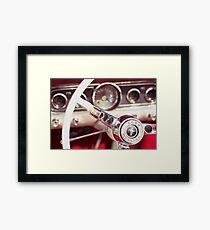 Ford Mustang Steering Wheel Framed Print