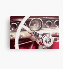 Ford Mustang Steering Wheel Metal Print