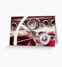 Ford Mustang Steering Wheel Greeting Card