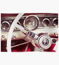 Ford Mustang Steering Wheel Poster