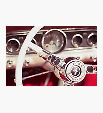 Ford Mustang Steering Wheel Photographic Print