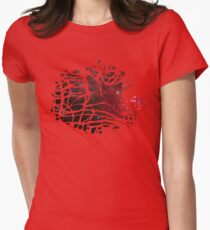 Tarred Nebula Womens Fitted T-Shirt
