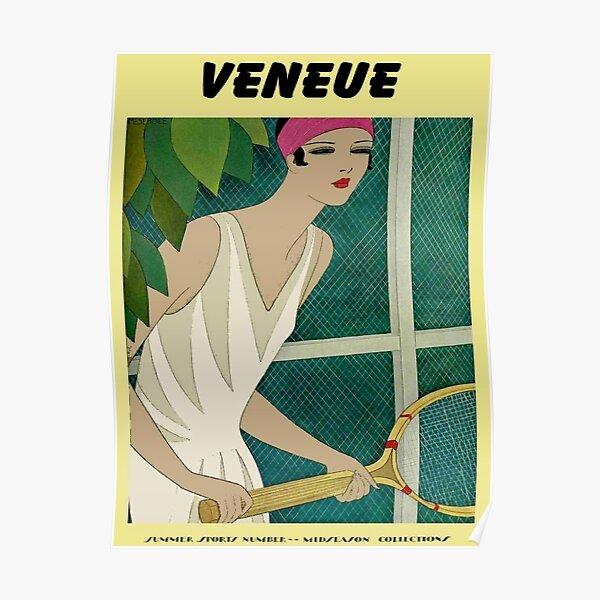 VENEUE : Vintage Tennis Magazine Cover Print Poster
